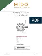 Mido Analog Automatic Watch User Manual