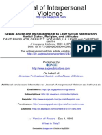 Sexual Abuse & Its Relationship to Later Sexual Satisfaction, Marital Status, Religion, & Attitudes