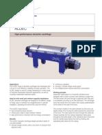 Fisa Tehnica - Centrifuga Deshidratare - AlfaLaval ALDEC 10.20.30