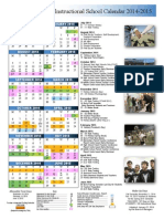 2014-2015 instructional calender