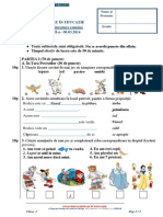 Clasa 1 Subiecte Romana 2013-2014 E2