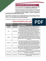 Plan de Restriccion Del Servicio 09 Junio 2014