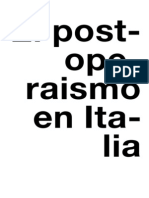 Espai en Blanc. Balance Conceptual Del Postoperaísmo Italiano