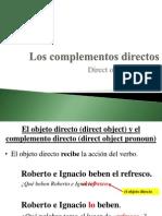 u3e3 - los complementos directos intro y practica