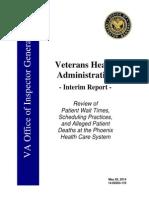 US Veterans Health Administration Interim Report on Patient Wait Times (2014)