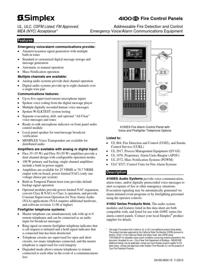 Simplex 4100-0034   Amplifier   Digital Audio