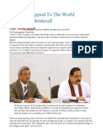 Mahinda's Appeal to the World