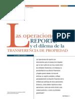 Operaciones de Reporte y Dilema de La Propiedad