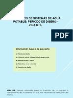 Tema 7 Estud. Periodo Diseño, Vida Util, Dotacion, Demanda, Caudales de Diseño