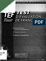Tef_test d'Évalutaion de Francais