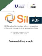 Caderno Programacao Silel 2013