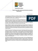 140609 COMUNICADO_RNDDHM Exige Garantías de Seguridad a Defensoras de Derechos Sexuales y Reproductivos