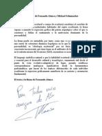 Análisis Firmas Alonso y Schumacher