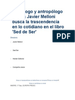 El Teólogo y Antropólogo Jesuita Javier Melloni