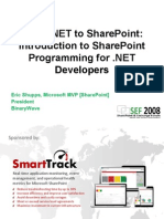 From .NET to SharePoint - Introduction to SharePoint Programming for .NET Developers