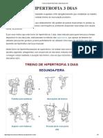 Treino de Hipertrofia 3 Dias _ Musculacao