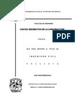 Costos Indirectos en La Construccion