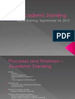 Academic Standing Training for ASCA