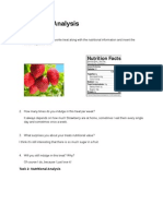 nutritional analysis revised