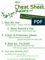 St. Patricks Day Pub Cheat Sheet