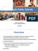 Seattle School District Presentation Framework on Bell Times Analysis