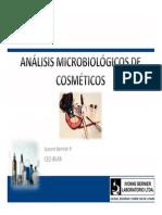 Análisis Microbiológico en Cosméticos