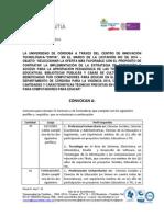 Convocatoria CPE 2014