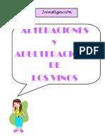 Alteraciones y Adulteraciones Del Vinio