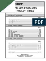 Holley 1-Barrel Parts Index