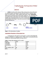 Lab 13 a Diazotization-Coupling Reaction--The Preparation of Methyl Orange