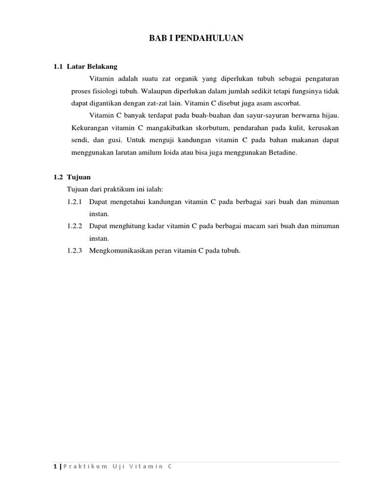 Laporan Praktikum Biologi Uji Vit C Docx