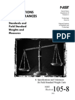 USDC - NIST - Handbook 105-8 - Specifications and Tolerances for Weights and Measures
