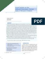 Effect of Occlusal Splints on the Temporomandibular Disorders