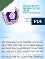 Makalah Review Dan Analisa Toko Online