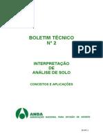 Boletim_02 INTERPRETAÇÃO de Analises de Solos