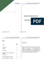 Manual de Procedimientos de Servicio Social Res Programa 2010