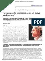 """Página_12 __ Dialogos __ """"El Liberalismo Se Plasma Como Un Nuevo Totalitarismo"""""""