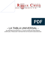 La Tabla Universal Martines Pasqually
