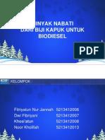 Minyak Biji Kapuk Untuk Biodiesel