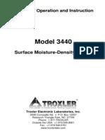 Troxler 3440 Manual