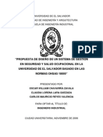 Tesis Sistema de Gestión en Seguridad y Salud Ocupacional Ohsas 18000