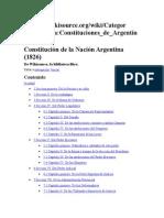 Constitucines de 1826 y 1819