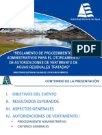 1. Autorizaciones de Vertimiento de Aguas Residuales Tratadas