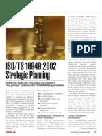 Planeacion Estrategica en ISO TS