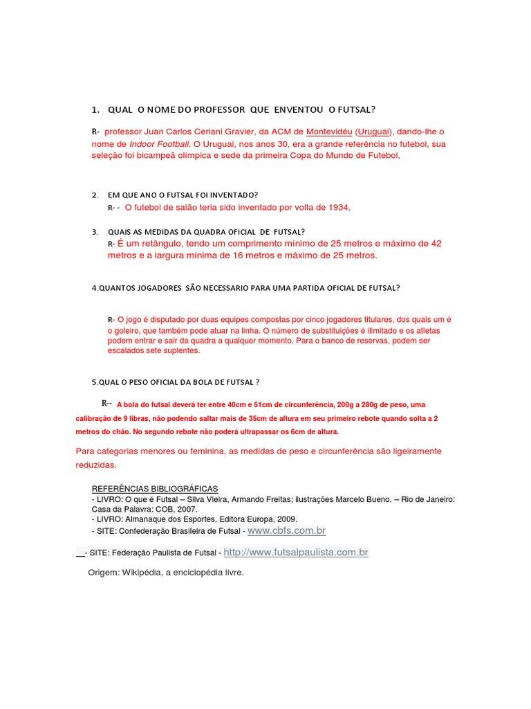 Futsal e Comidas Da Espanha e587f7546dbc5