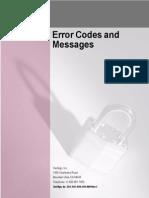 Onsite Error Codes