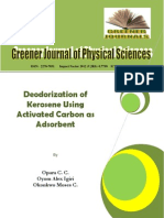 Deodorization of Kerosene Using Activated Carbon as Adsorbent