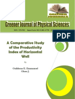 A Comparative Study of Productivity Index in Horizontal Wells