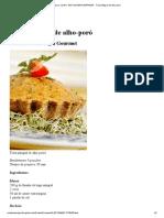 Torta Integral de Alho-poró