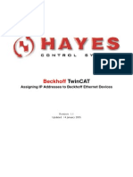 Assigning IP Addresses Beckhoff Ethernet Devices
